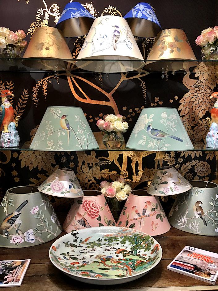 de Gournay lampshades