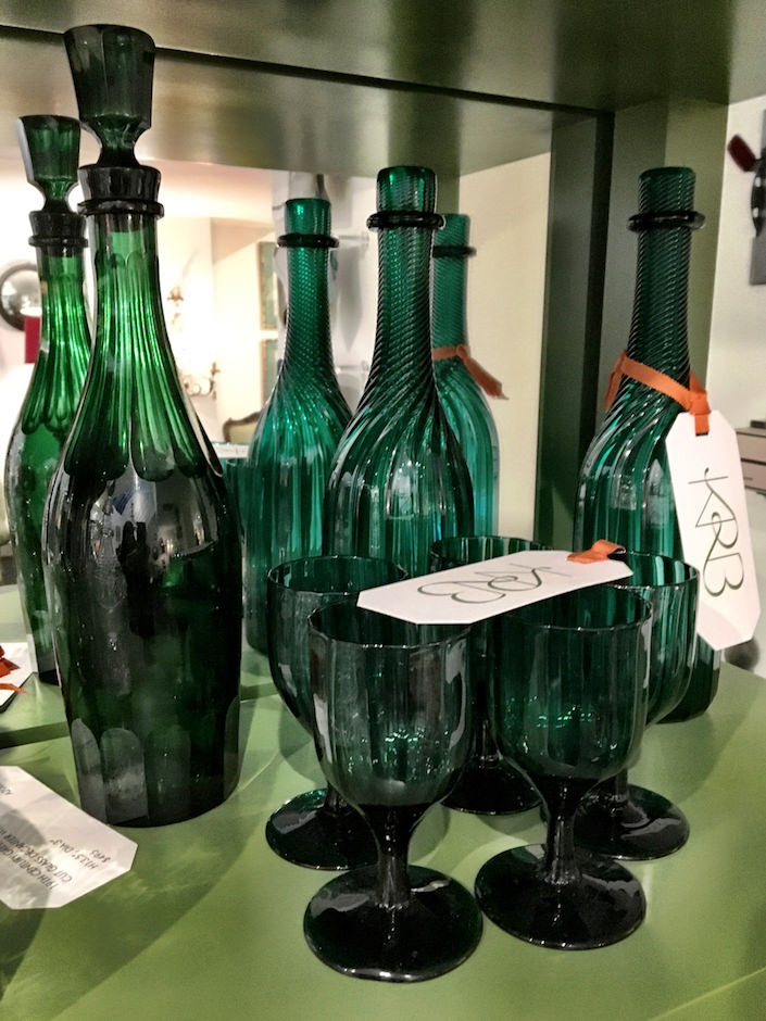 19th century emerald glass at KRB