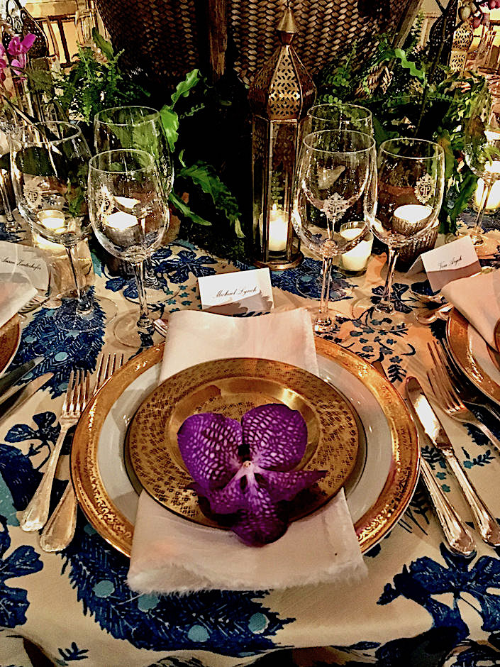 Brockschmidt and Coleman NYBG Orchid Dinner table