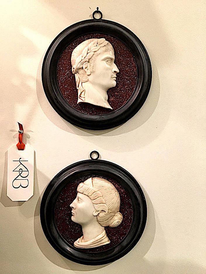 KRB portrait plaques of Roman Emperor & Empress