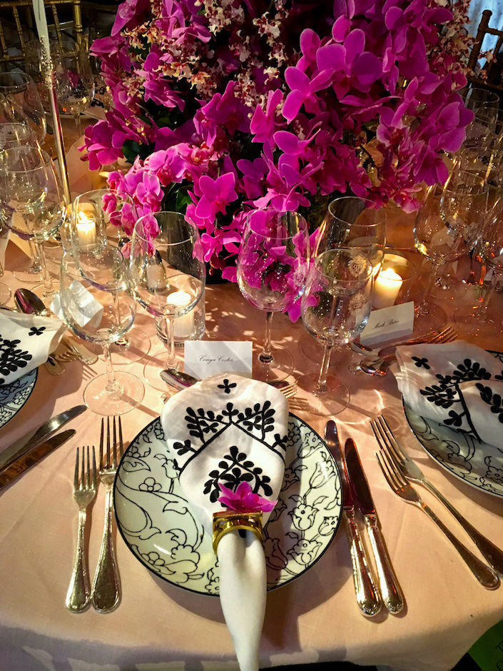 Paris Forino 2017 Orchid Dinner table