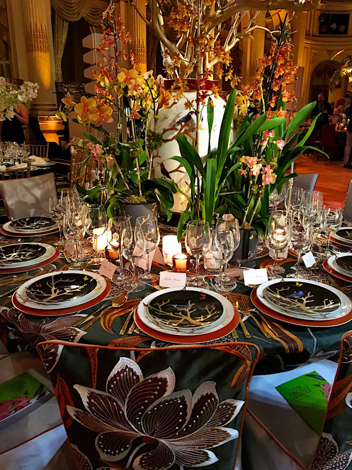 Richard Mishaan Orchid Dinner 2017 table