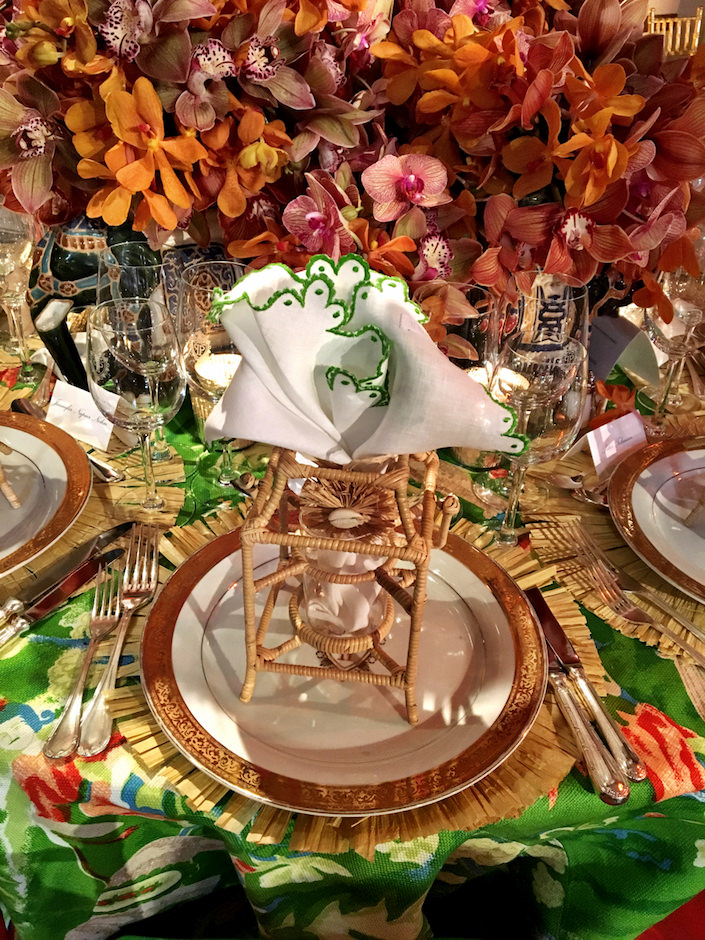 Robin Henry Orchid Dinner details