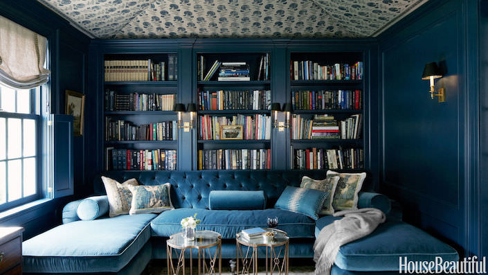 jeannette-whitson-library, photo by Simon Watson for House Beautiful