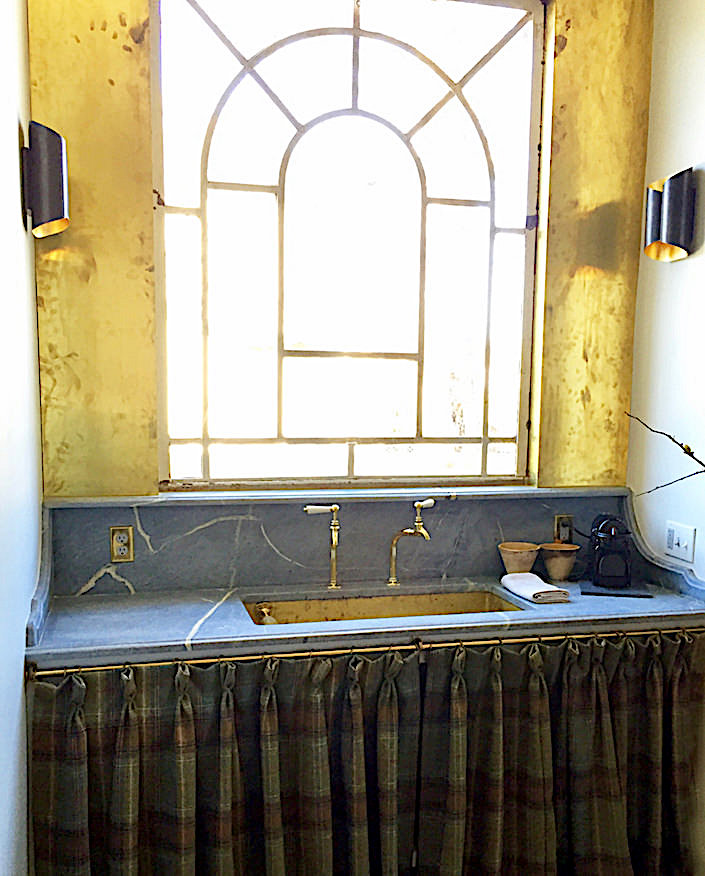 kitchen sink in Jeannette Whitson studio