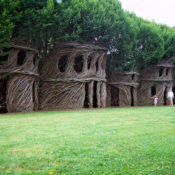 Just Around the Corner by Patrick Dougherty, photo Doyle Dean