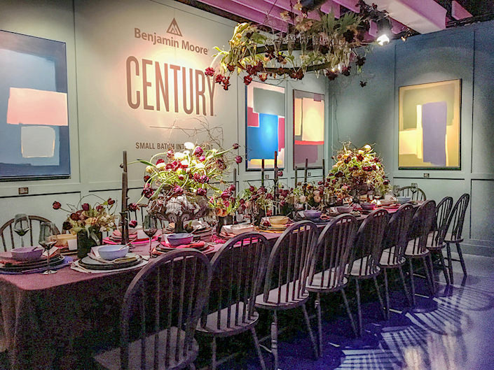 Benjamin Moore DIFFA Dining by Design 2017 tabletop