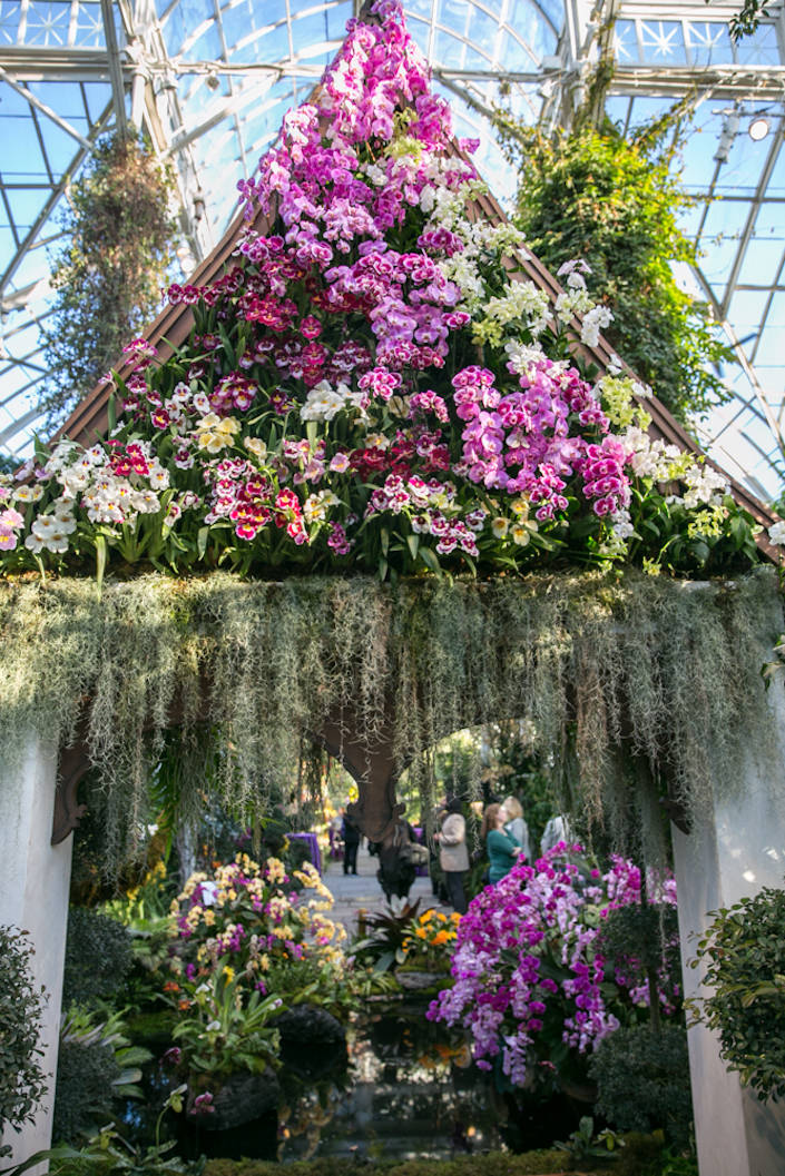 Thai pavilion at the NYBG 2017 Orchid Show