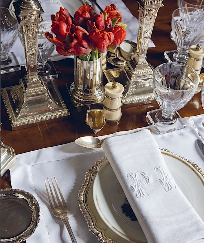 table setting by Paolo Moschino & Philip Vergeylen