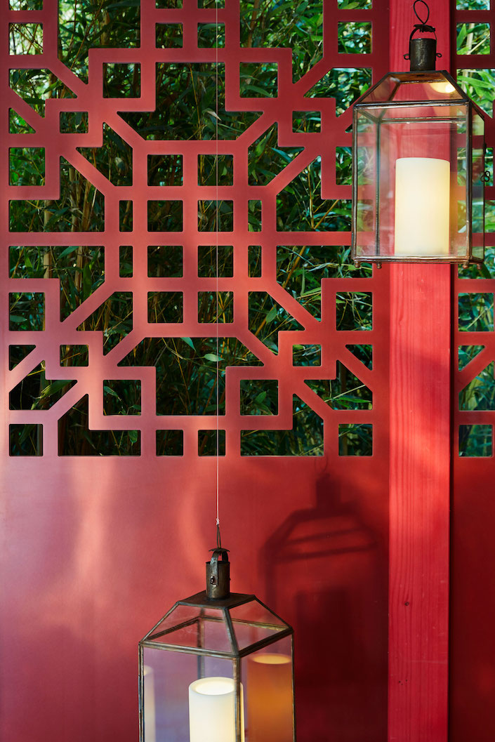 Corian Cabana Club Idarica Gazzoni Chinese Meditation Room fretwork