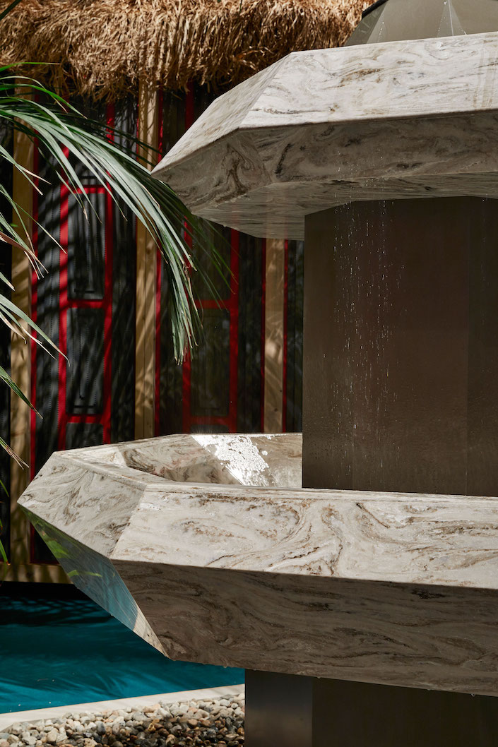 Corian Cabana Club Spring Fountain by Martino Berghinz