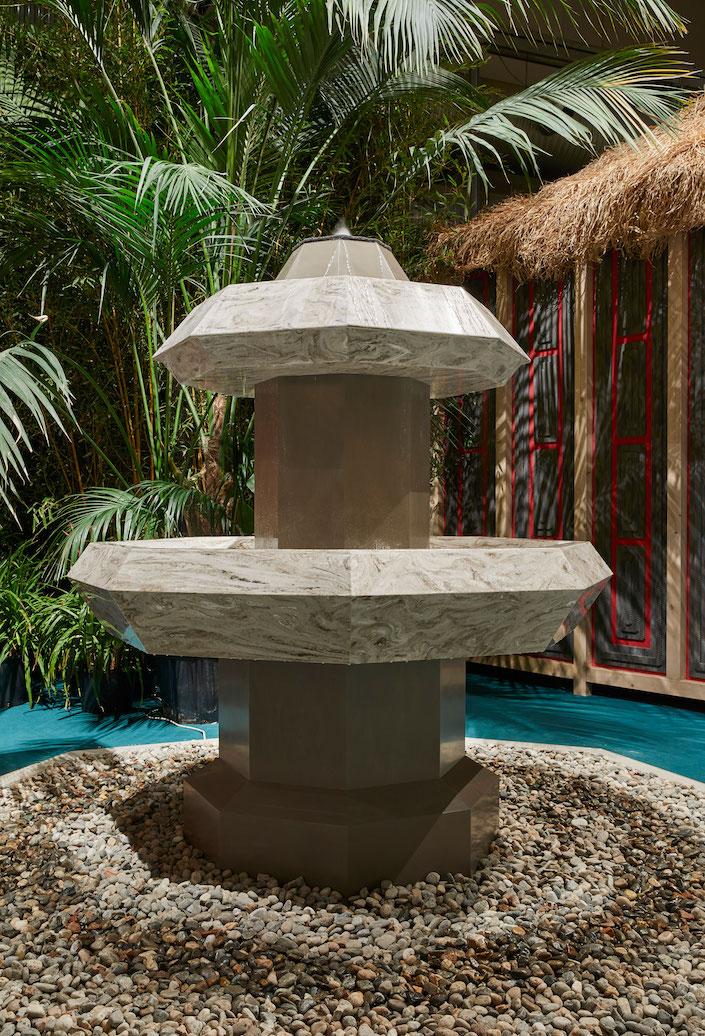 Corian Cabana Club Spring Fountain