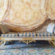 trompe-l'oeil in Sicilian Palazzo in AD, photo Armando Rotoletti