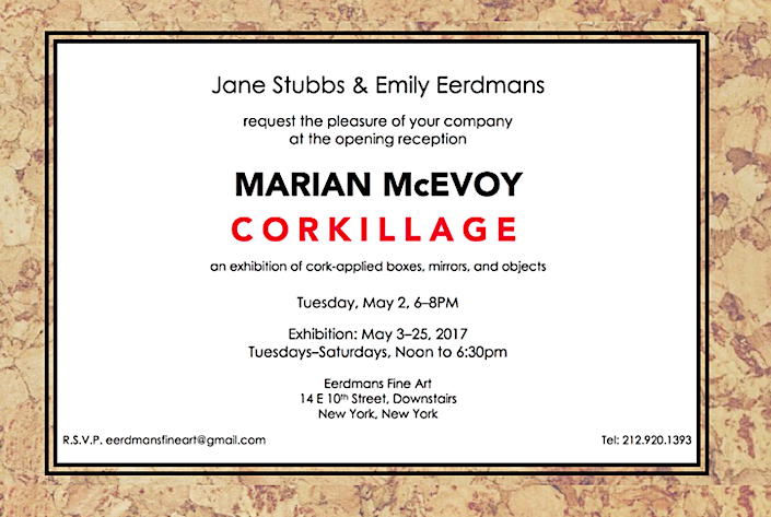Eerdmans Fine Art invitation to Marian McEvoy Corkillage show