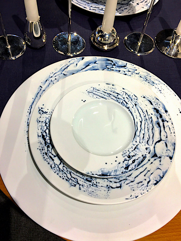 Jaune de Chrome Blue Impression porcelain