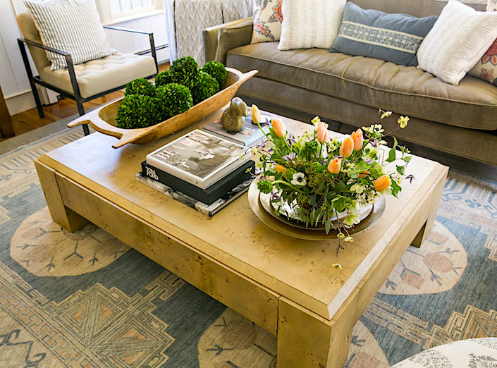 Kara Mann coffee table in the One Kings Lane Connecticut House