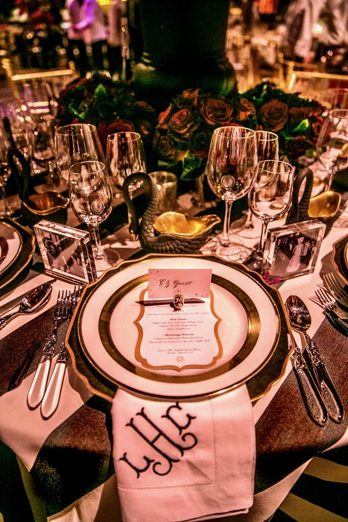 Lindsey Coral Harper table at the 2017 Lenox Hill Neighborhood Gala detail