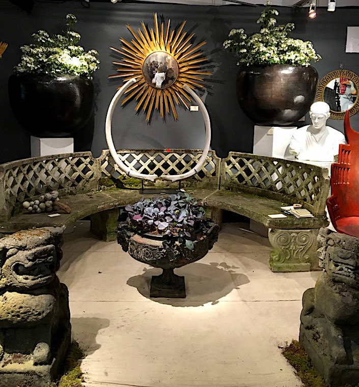 Balsamo Antiques at the NYBG Antique Garden Furniture Fair