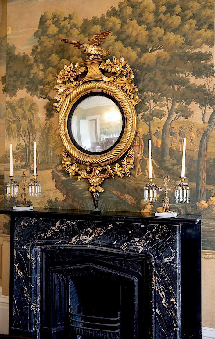 Charleston William C. Gatewood house dining room with de Gournay wallpaper