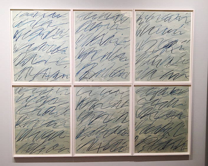 Cy Twombly Roman notes lithographs at Galerie Bastian at TEFAF New York Spring