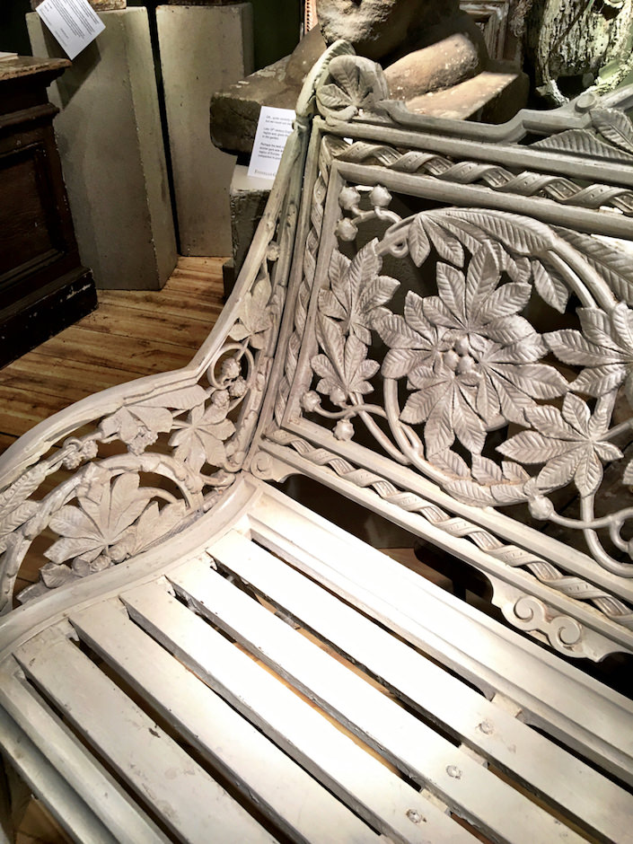 Finnegan Gallery antique garden bench