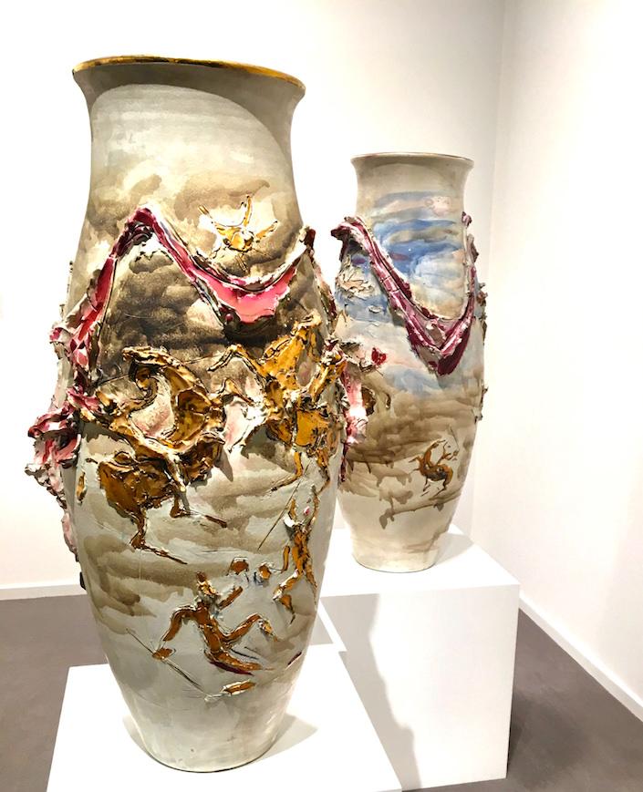 Lucio Fontana Ceramica Spaziale at Galerie Karsten Greve, St. Moritz at TEFAF New York
