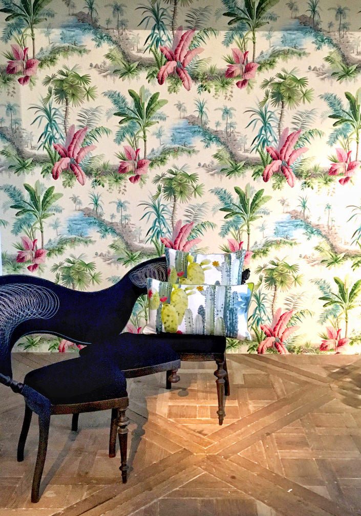 Sebastian Brajkovic Conversation Piece with Pierre Frey Alexandrie wallpaper at Carpenter's Workshop