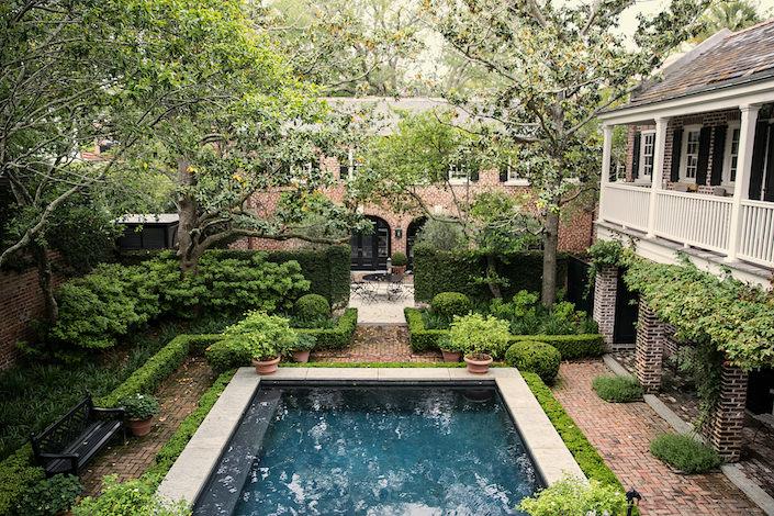 William C Gatewood house pool in Charleston