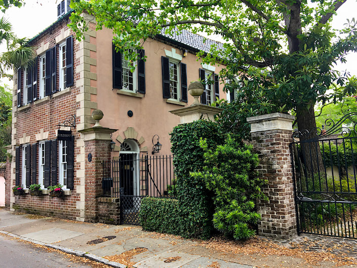 brick and stucco historic Charleston house