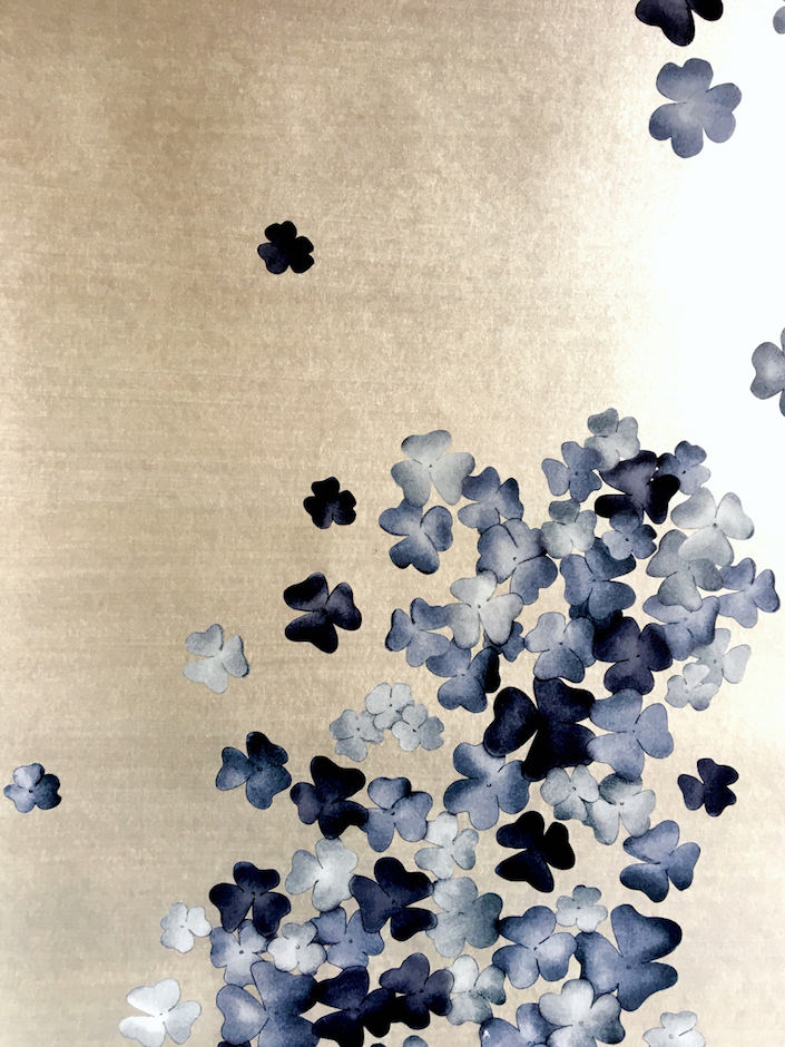 detail of Blossom wallpaper by