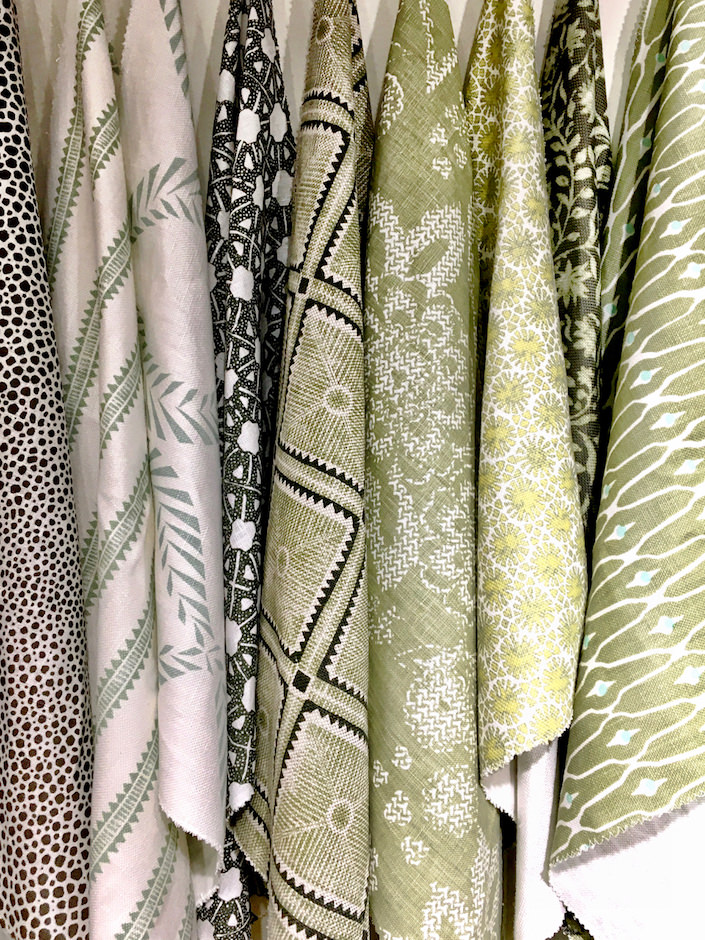 fabrics at Fritz Porter in Charleston