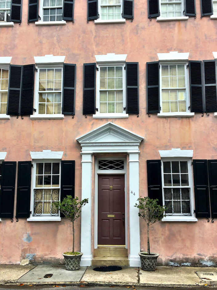 historic Charleston pink house