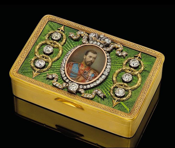 Faberge presentation snuff box -1