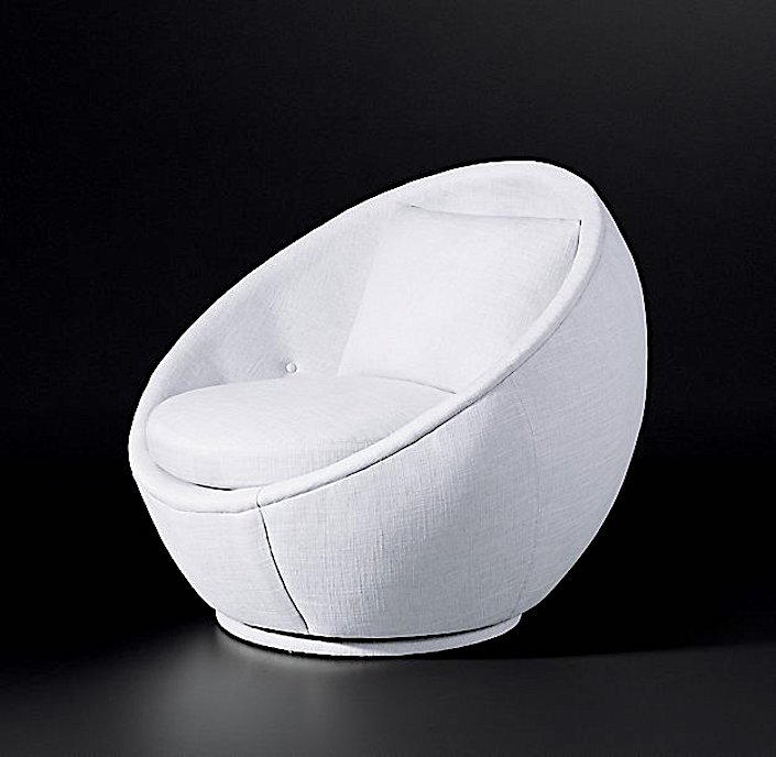 MILO BAUGHMAN MODEL #810, 1967 FABRIC SWIVEL CHAIR