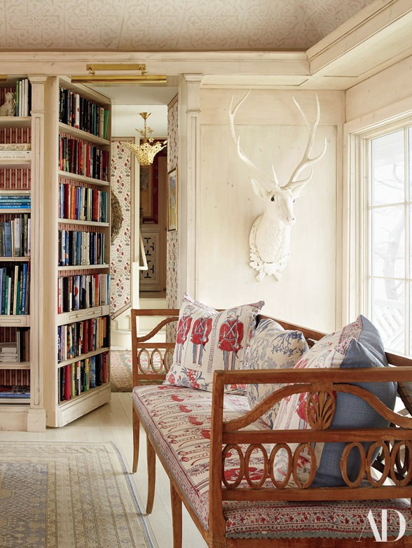 Peter Marino designed library in AD, photo by Jennifer Ash Rudick