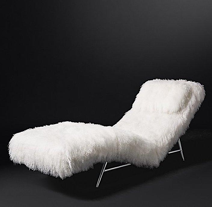 RH Modern - Milo Baughman Model 149, 1953 Tibetan Wool Chaise
