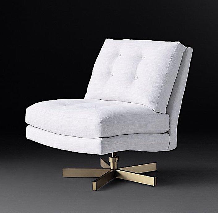 RH Modern Milo Baughman swivel chair