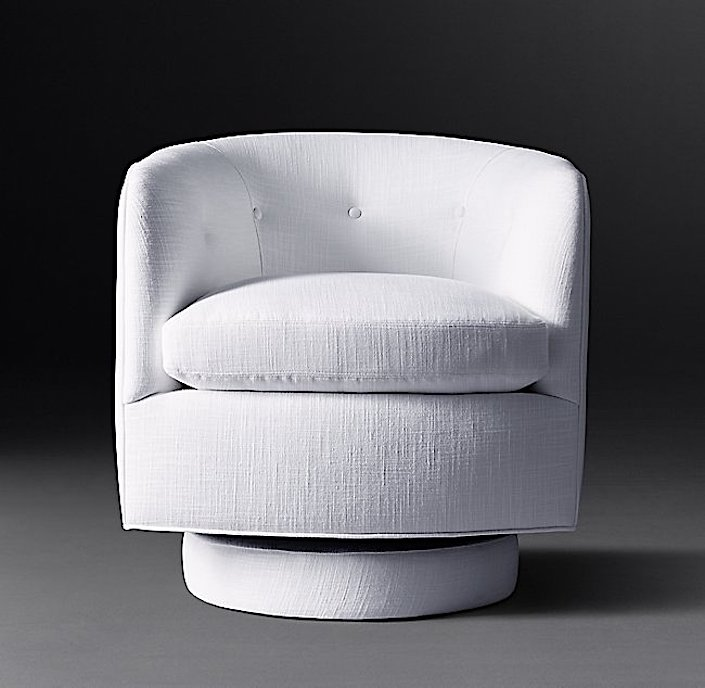 RH Modern Milo Baughman tub chair