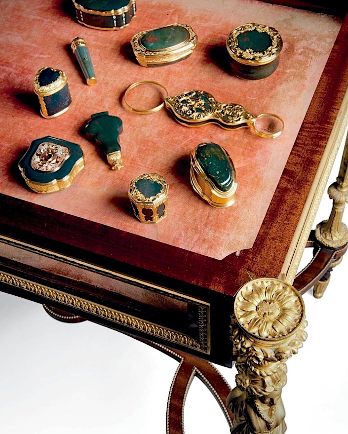 snuff boxes at Opulence at Christies sale