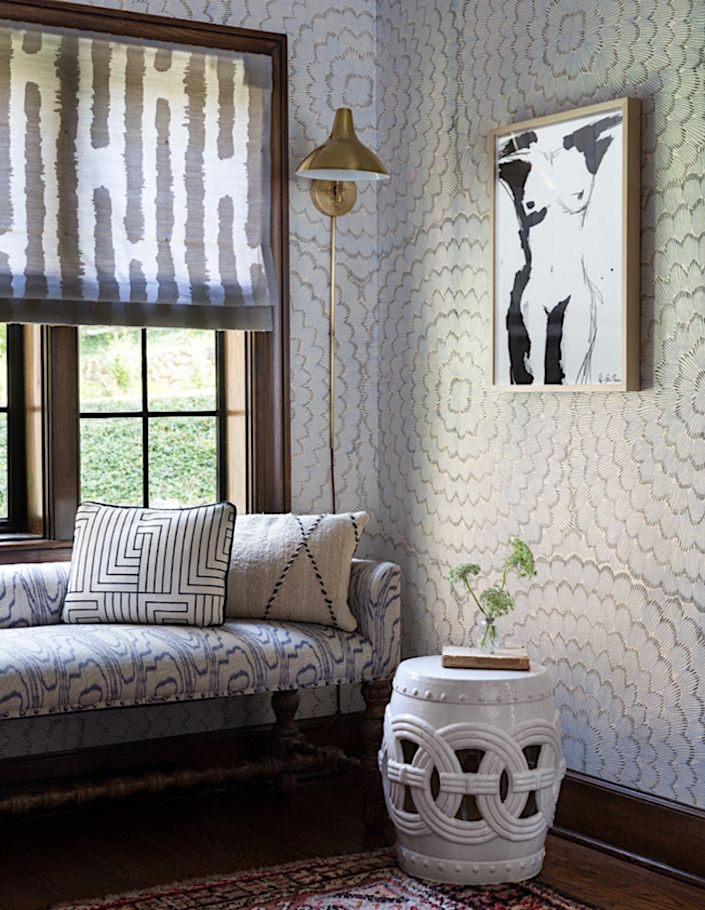 Cloth & Kind with Schumacher wallpaper