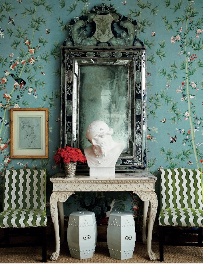 Miles Redd Brighton Pavilion wallpaper in The Schumacher Library of Wallcovering-1