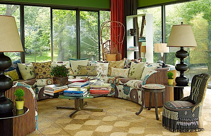 Muriel Brandolini Hamptons living room, photo Tria Giovan for Out East book