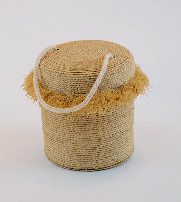 Peter Beaton straw Hula Bag-1