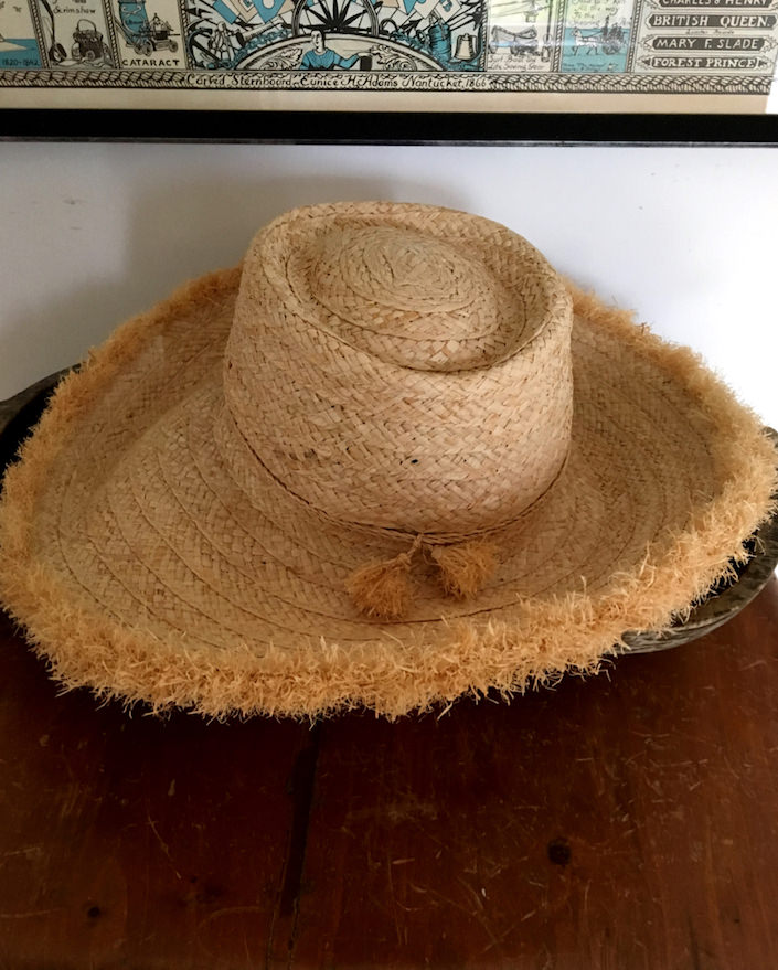 Peter Beaton straw hat