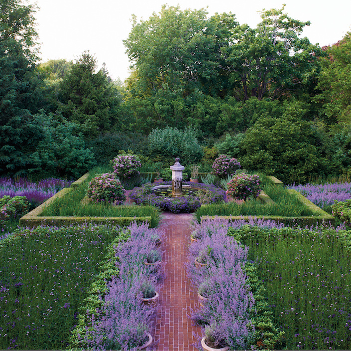The purple garden in The Garden of Peter Marino