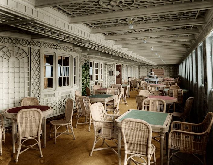 Wicker in the Titanic Cafe Parisien