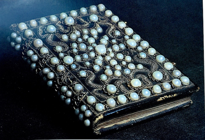 Charles I prayer book with pearls
