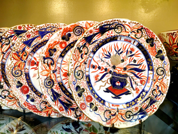 Coalport plates at Spare Room Antiques