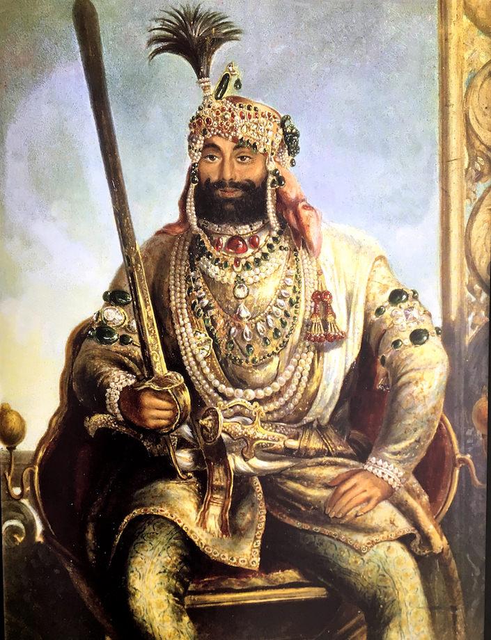 Maharaja Sher Singh in pearls
