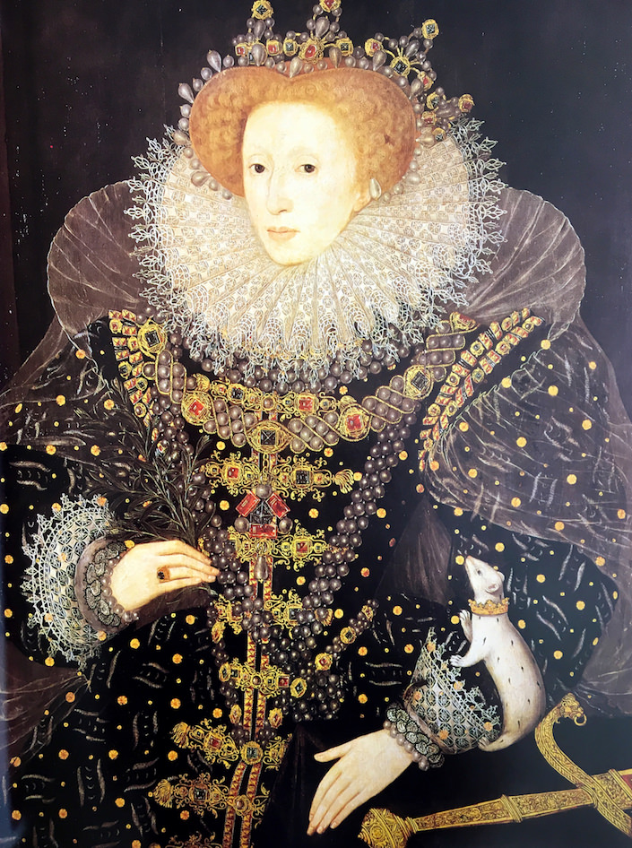 Queen Elizabeth I showing the power of pearls